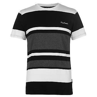 Pierre Cardin heren Big Stripe T Shirt bemanning hals Tee Top korte mouw Print