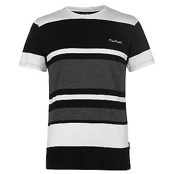 Pierre Cardin Mens Big Stripe T Shirt Crew Neck Tee Top Short Sleeve Print