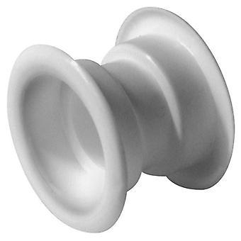 4 x plaque de Ventilation blanc Mini cercle col Air sortie Grille porte Set
