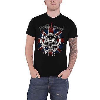 Motorhead T Shirt British Flag Warpig Band Logo new Official Mens Black