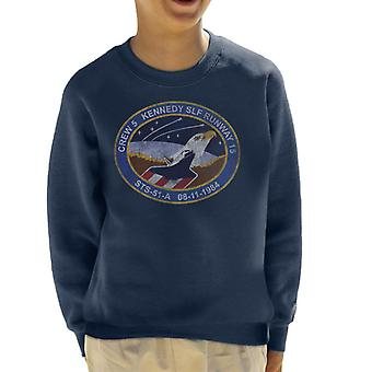 NASA STS 51 A Discovery Mission Badge Distressed Kid's Sweatshirt