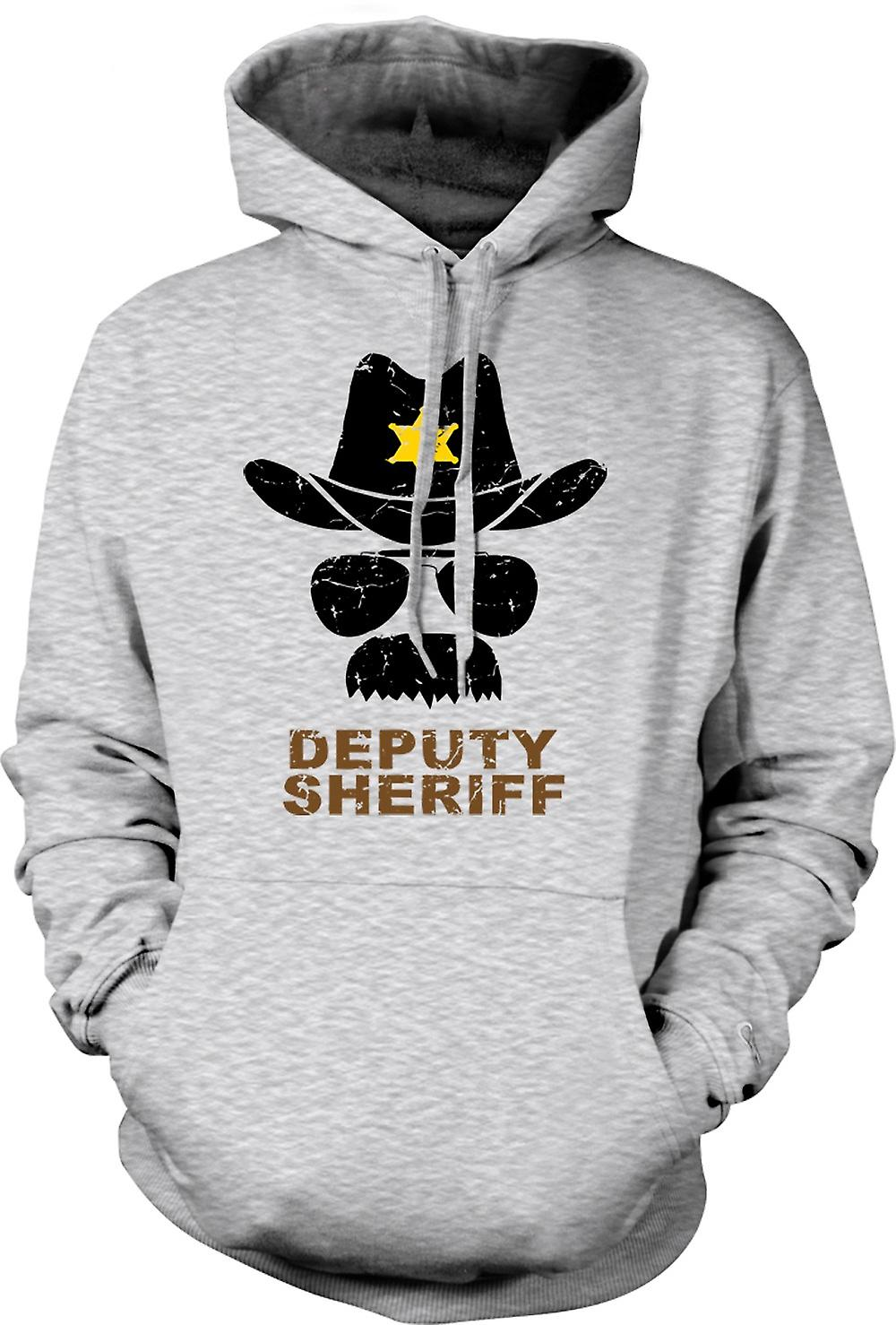 Mens Hoodie - Police adjoint Sherriff Funny - graphisme