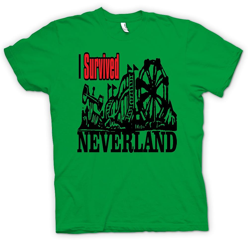 Mens T-shirt - I Survived Neverland - Funny