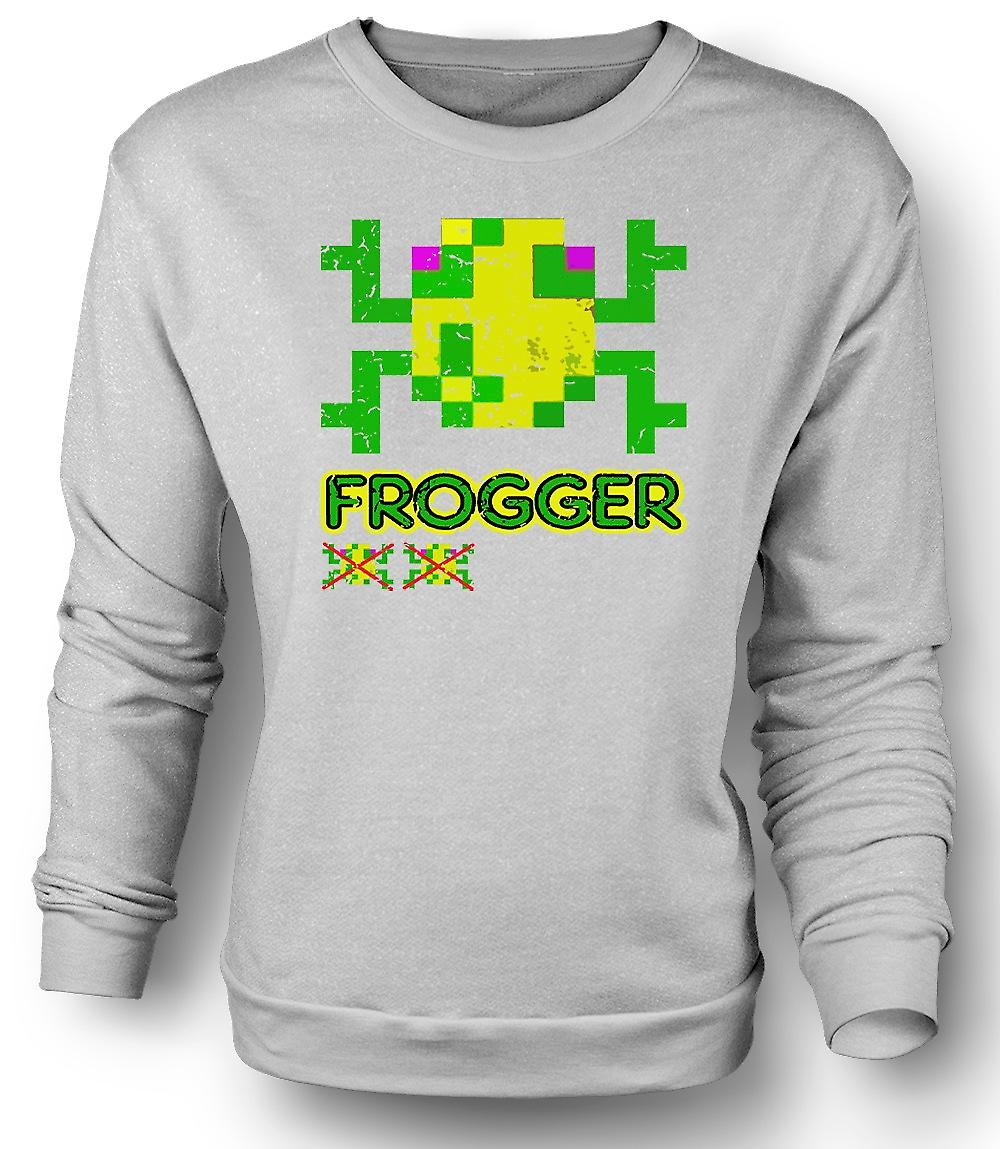 Mens Sweatshirt Frogger - Classic Arcade Game 0s Gamer