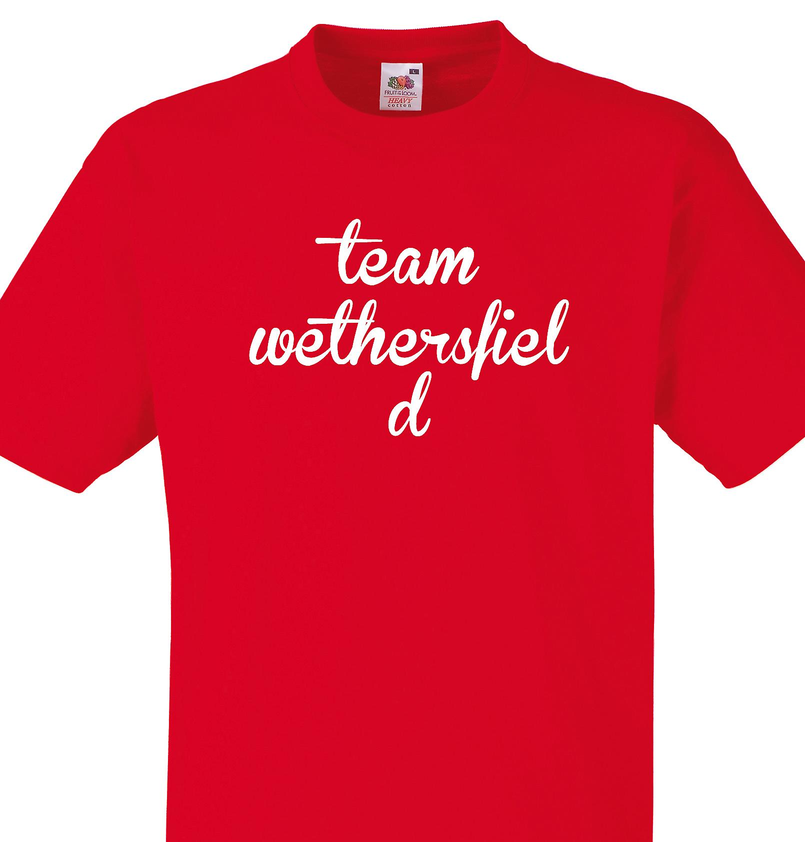 Team Wethersfield Red T shirt