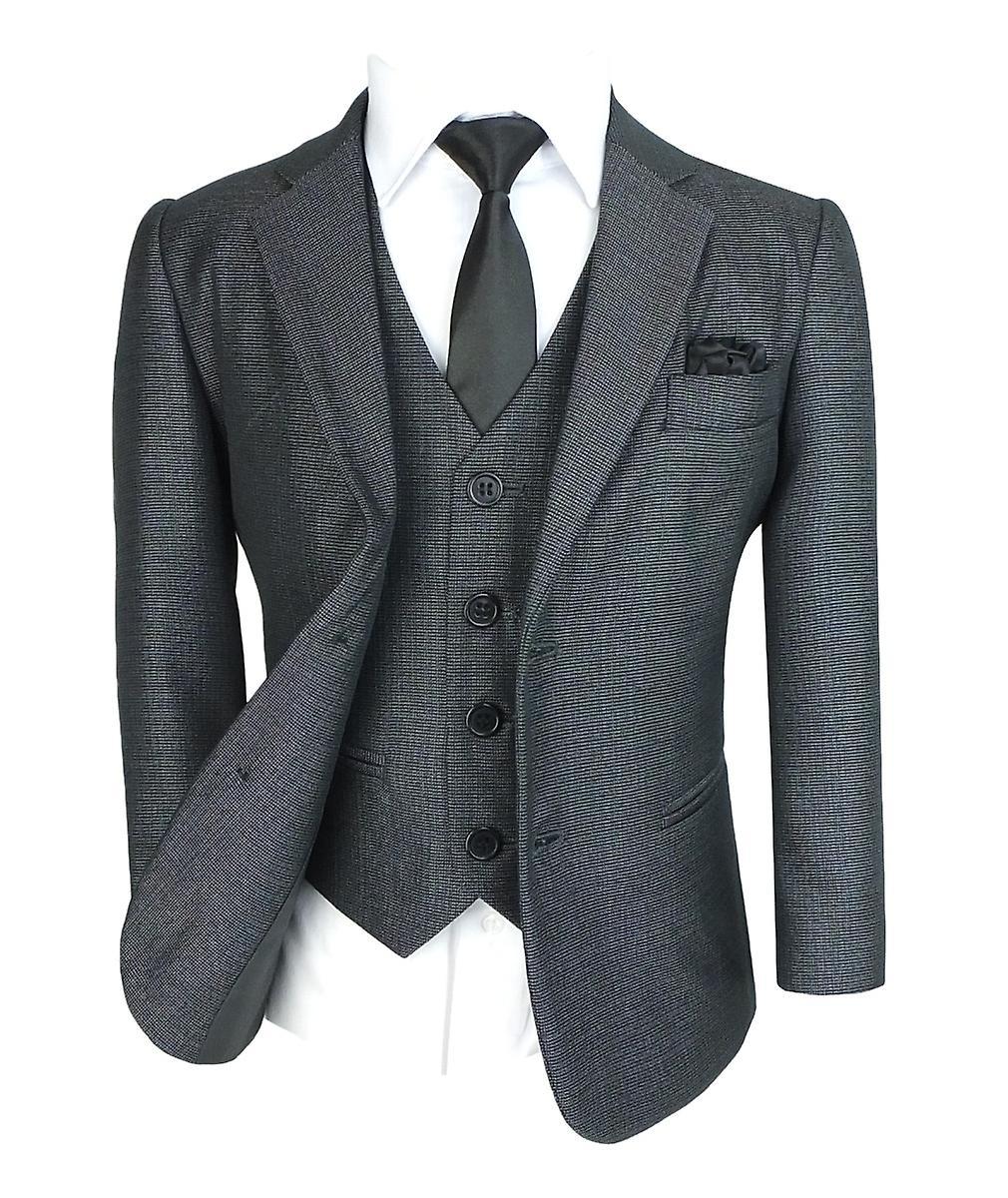 Garçons tous dans un Tonic gris costume