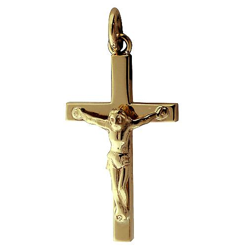 9ct or 30x18mm bloc plaine Crucifix