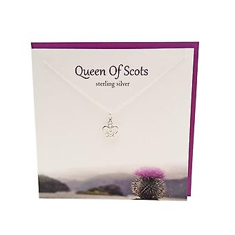 The Silver Studio Scottish Collection Mary Queen of Scots Pendant Card