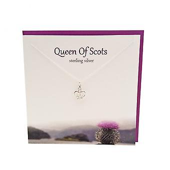 De zilveren Studio Schotse collectie Mary Queen of Scots hanger kaart