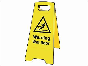 Scan Warning Wet Floor Heavy-Duty A Board