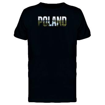 Poland Country Name With Photo Tee Men's -Image by Shutterstock