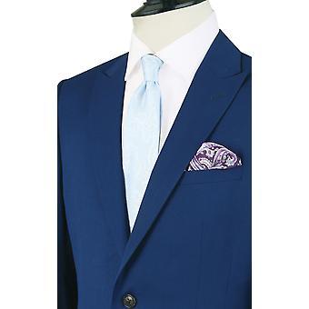 Dobell Boys Bright Blue Suit Jacket Regular Fit Notch Lapel