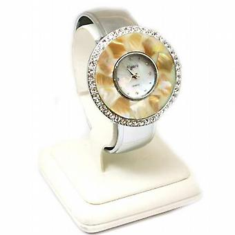 Figaro Round Stone Bangle Ladies Fashion Watch QL4219