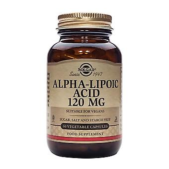 Solgar, Alpha-Lipoic Acid 120 mg Vegetable Capsules, 60