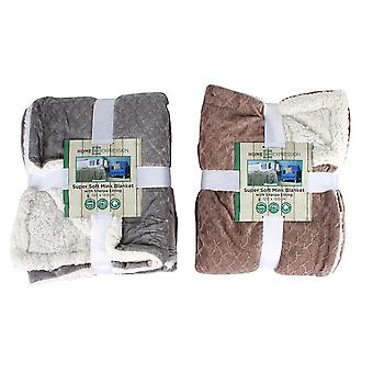 Super Soft Mink And Sherpa Lined Blanket