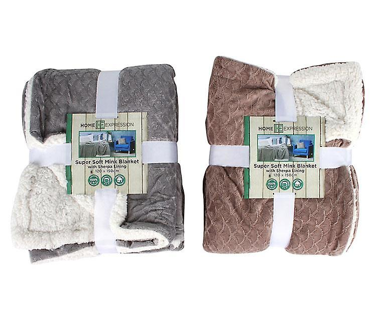 Lined Mink Super And Soft Sherpa Blanket roeCxdB
