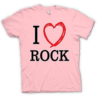Womens T-shirt - I Love Rock Music Band - Quote