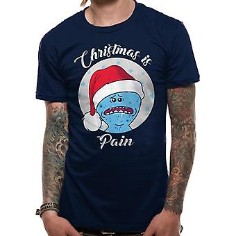 Rick And Morty Unisex Adults Christmas Is Pain Design T-Shirt