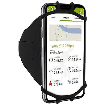 Sport Armband Smartphone 4 to 6 inches Rotatable 180 ° Elastic Holder Black