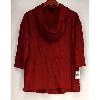 Style & Co. Plus Sweater Cowl Neck Metallic Sweater Amore Red