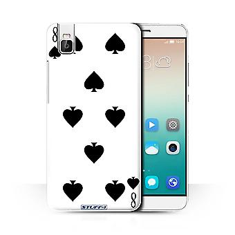 STUFF4 Case/Cover for Huawei Honor 7i/ShotX/8 of Spades/Playing Cards