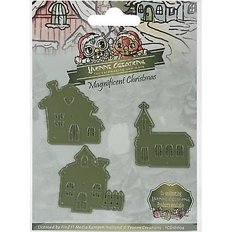 Find It Trading Yvonne Creations Magnificent Christmas Die-Little Village YCD10004