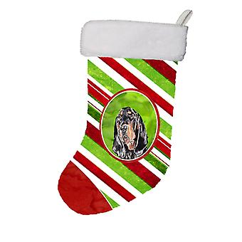 Black and Tan Coonhound Candy Cane Christmas Christmas Stocking