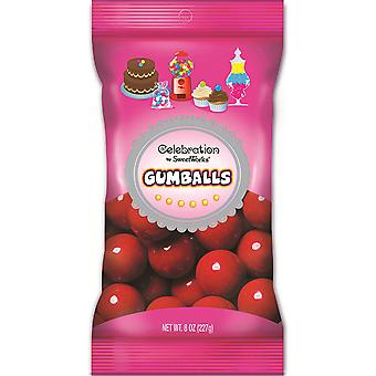Celebrations By Sweetworks Gumballs 8oz-Red CG74552
