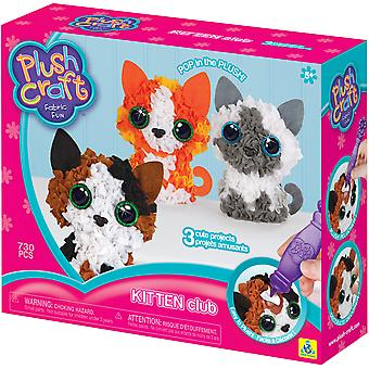 Plush Craft Fabric Fun Kit Kitten Club 3/Pkg-Kittens 74661