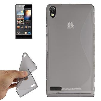 Mobile case TPU case for Huawei Ascend P6 grey