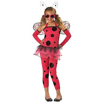 Kjærlighet Bug Lady Ladybug Ladybird insekt våren Fairy Dress Up Girl kostyme