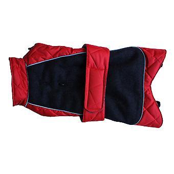 Gå gå quiltet termisk frakke rød 14