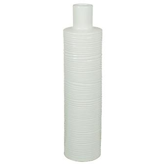 Wellindal Jarrón Cerámica blanco (Home , Decoration , Vases)