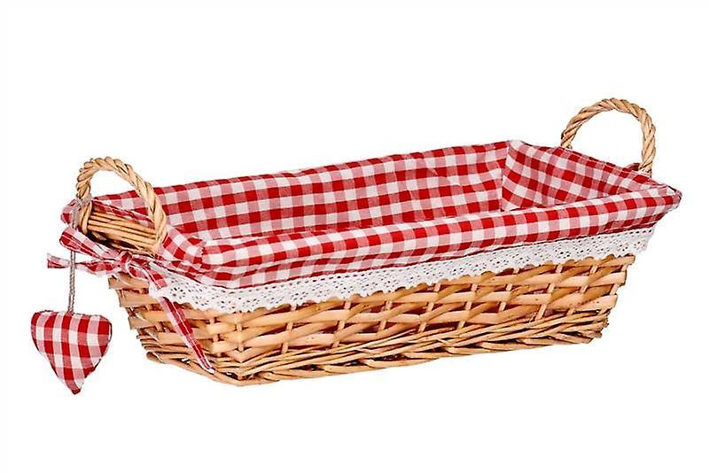 Rectangular Bread Basket Red