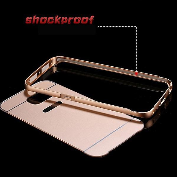 Aluminium bumper 2 pieces with cover Pink for Samsung Galaxy Galaxy S6 edge G925 G925F