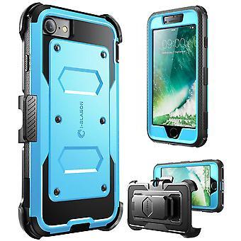 iPhone 7 mål, i-Blason [Armorbox ärende] byggt i skärmskydd, Apple Iphone 7 blå