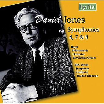 D. Jones - Daniel Jones: Symfonier nr. 4, 7, 8 [CD] USA import