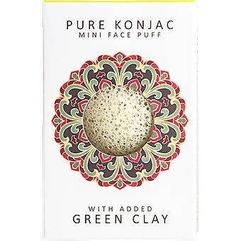 The Konjac Sponge Company Mini Face Puff with French Green Clay