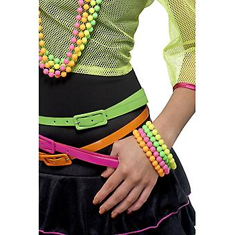 80's wristband neon chain neon nights 4-color 4 chains