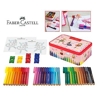 Faber-Castell Faber Caja metall Rotuladores Conector Y klippet Y Plan