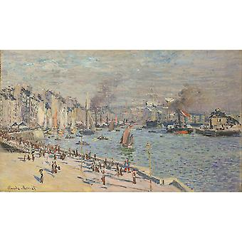 Claude Monet - Port of Le Havre Poster Print Giclee