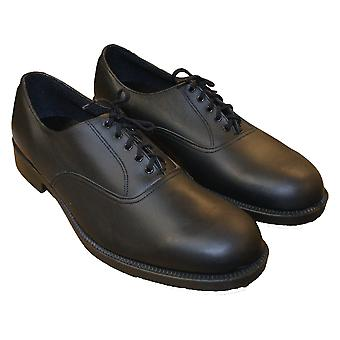 Genuine British Mens Black Leather RAF Parade Shoe