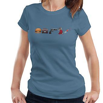 Emoji Pulp Fiction kvinder T-Shirt
