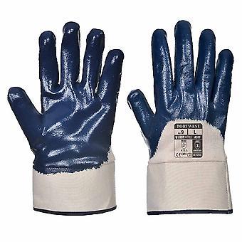 Portwest - Nitrile Safety Cuff Aqua Grip Glove (12 Pair Pack)