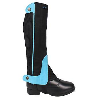 QHP Turquoise Suede Chaps (Horses , Rider equipment , Clothes , Leggings and chaps)