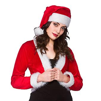 Adult One Size Cute Santa Shrug And Hat Fancy Dress Costume