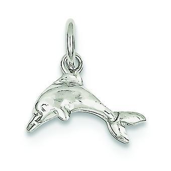 Plata esterlina sólida pulido abierto detrás delfín encanto - gramos.7