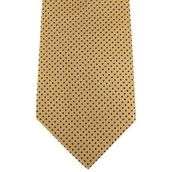 David Van Hagen Pin Dot Tie - Gold/Black