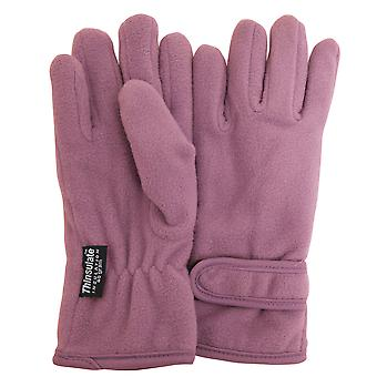 FLOSO Girls Childrens/Kids Plain Thermal Thinsulate Fleece Gloves (3M 40g)