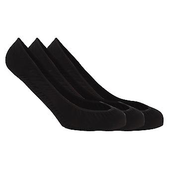 Soho Collection Womens Footsies With Gel Heel Grip (Pack Of 3)